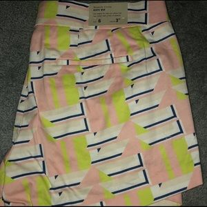 Print J Crew Summer Shorts